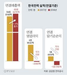 """한전, 탈원전 후유증 고백···""""신재생 정책에 재무 악화 전망"""""""