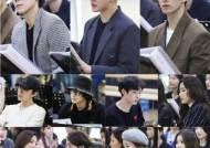 카이·김준수·도겸, 3인 3색 아더…'엑스칼리버' 첫 연습 현장 공개