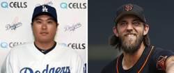 [미리보는 오늘] 류현진 vs '홈런 치는 투수' 범가너, 9번째 선발 맞대결…승자는?