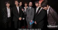 What's Next for BTS? @BBMAs Back Stage Interview