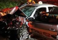 택시 타고 고향 집 가던 일가족 음주 차량 충돌…3명 사망·3명 중상