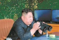 김정은 '레드라인' 줄타기, 추가 제재 피하려 단거리 쐈나