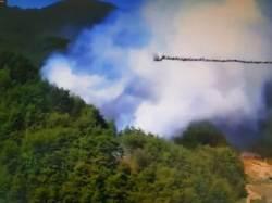 홍천 서석면 야산서 불이나 1.3㏊ 태워…잔불 정리 중