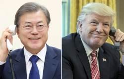 """""""<!HS>트럼프<!HE>, 北식량지원 지지"""" 靑 발표내용, 백악관엔 없다"""