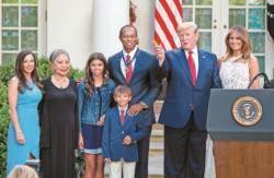 타이거 우즈, 미국 최고 영예 '자유의 메달'