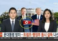 """文대통령 앞 인공기 배치한 연합뉴스TV…방심위 """"법정제재"""""""