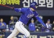 '시즌 4호 홈런' 구자욱, 린드블럼의 20타자 연속 퍼펙트 저지