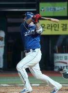삼성 팀 홈런 1위 이원석 손가락 부상으로 엔트리 제외