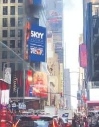 [사진] 뉴욕 타임스스퀘어 광고판 화재