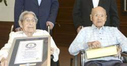 '부부합산 208세' 세계 최장수 일본인 부부…남편 사망