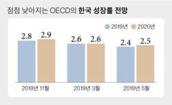 OECD 韓성장률 또 낮췄다…무색해진 靑 '<!HS>경제<!HE> 낙관론'