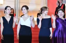 [서소문사진관]'기생충' 봉준호 감독과 송강호·조여정 칸 입성
