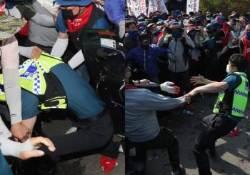 경찰 멱살잡고 치아 깼는데···민노총 10명 반나절만에 석방