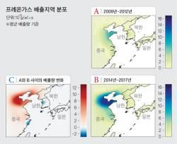 """""""오존 파괴하는 프레온 가스, 중국 동부서 연간 7000t 배출"""""""