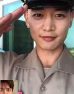 샤이니 민호, 해병대 수료하고 늠름한 경례