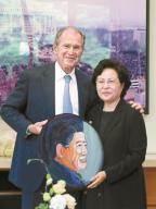 [사진] 부시가 그린 노무현 초상화
