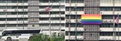 '서울 퀴어축제' 앞두고 美대사관 무지개 현수막이 커진 이유는?