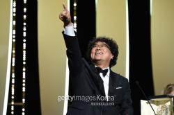 [칸·종합IS] #韓최초 #만장일치 #송강호 '황금종려상 봉준호' 100년만의 기적