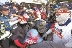 법정소란 구속시킨 판사들, 경찰 치아 부러뜨린 시위대는 기각
