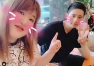 """이국주, 휴가 나온 B1A4 신우와 만났다 """"형동생 사이"""""""