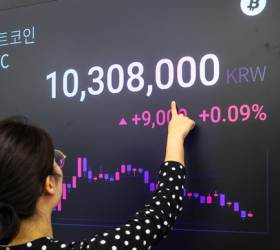 [사진] <!HS>비트코인<!HE> 1년 만에 1000만원 돌파