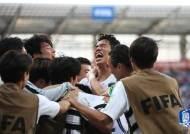 [U-20 월드컵] '오세훈 결승포' 정정용호, 숙적 일본 잡고 8강행
