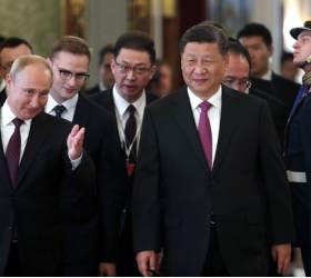 [사진] 시진핑·<!HS>푸틴<!HE>, 크렘린궁서 정상회담