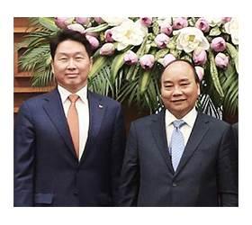 """<!HS>최태원<!HE>, 베트남 1·2위 기업 만나 """"협력 강화"""""""
