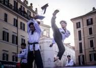 [서소문사진관]WT의 현란한 발차기. 태권도 월드 그랑프리 로마서 개막