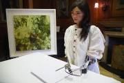 [서소문사진관]세계최초 인공지능 로봇 예술가 아이다(Ai-Da)가 그린 초상화