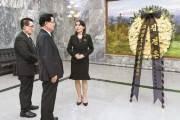 [사진] 김여정, 이희호 여사 추모 조화 전달