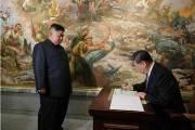 [서소문사진관] 北·中이 미군 공격하는 그림 앞에서, 시진핑의 방북 마지막 행보