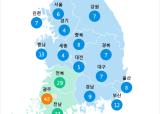 [6월 23일 PM2.5]  오전 11시 전국 초미세먼지 현황