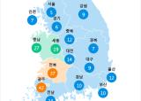 [6월 23일 PM2.5]  오전 6시 전국 초미세먼지 현황