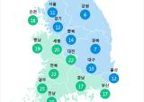 [6월 24일 PM2.5]  오전 11시 전국 초미세먼지 현황