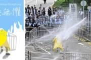 '香港無懼(두려움 없는 홍콩)'  SNS 그림으로 다시 번지는 홍콩 시위