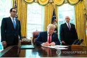 """트럼프, 대이란 추가제재 서명…""""최고지도자 겨냥"""""""