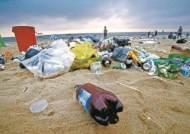 [사진] 쓰레기장 된 경포대 백사장
