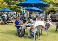 '피곤할 땐 잔디밭에서'···휴식처로 각광받는 남부대 마켓스트리트 잔디광장