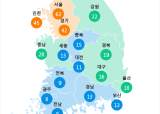 [7월 18일 PM2.5]  오전 11시 전국 초미세먼지 현황