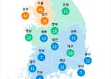 [7월 19일 PM2.5]  오전 6시 전국 초미세먼지 현황