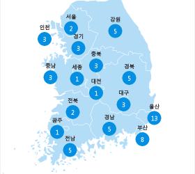 [7월 21일 PM2.5] 오전 6시 전국 초<!HS>미세먼지<!HE> 현황