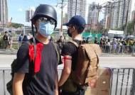 홍콩 시위에 붉은 리본 '의용군' 등장…경찰 공권력에 불복종 격화