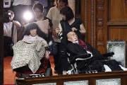 중증 장애인 참의원 위해 '특별석' 마련한 일본 의회