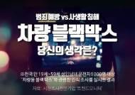 [영상] 차량 블랙박스 필요성, 당신의 생각은?