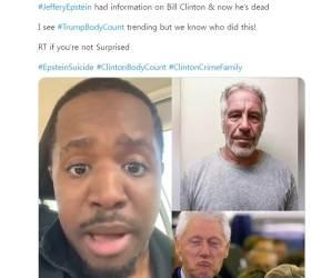 성범죄 억만장자 극단 선택···트럼프 '<!HS>클린턴<!HE> 연루' 음모론 리트윗