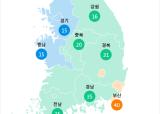 [8월 18일 PM2.5]  오전 6시 전국 초미세먼지 현황