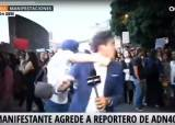 멕시코서 '생중계 기자에 주먹질'…폭행 장면 그대로 방송돼