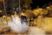 """홍콩 '평화집회' 8일만에 폭력사태…""""10명 부상, 28명 체포"""""""