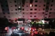 광주 아파트 화재로 50대 부부 숨져…창문에 매달린 딸, 이웃이 구조